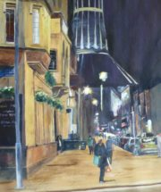Philharmonic pub, Catholic Cathedral, Hope Street, Liverpool. Acrylic painting