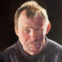 Portrait-Self Portrait of Graham McQuade in oils